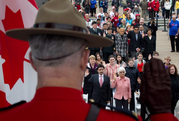 Citizenship ceremony on Canada Day