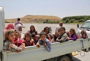 Displaced Iraqis from the Yazidi