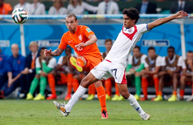 Netherlands and Costa Rica at 2014 World Cup