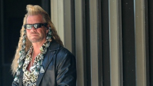 Duane 'Dog' Chapman, takes a break in Honolulu, Hawaii, Tuesday, March 20, 2007. (AP / Lucy Pemoni)