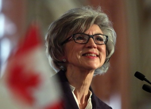 Beverly McLachlin, Chief Justice of the Supreme Court of Canada, delivers a speech in Ottawa, Tuesday, February 5, 2013. (Fred Chartrand/THE CANADIAN PRESS)