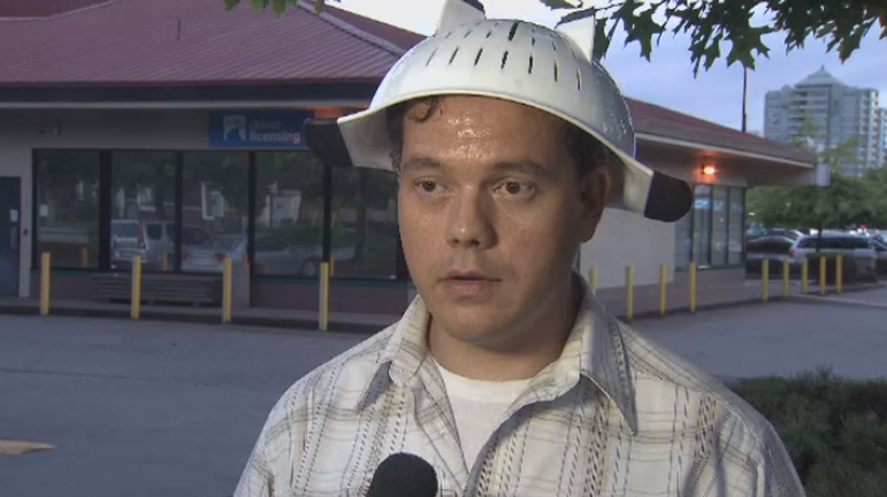 B.C.'s insurance bureau is denying a Pastafarian from wearing a kitchen accessory on his head in a government photo.