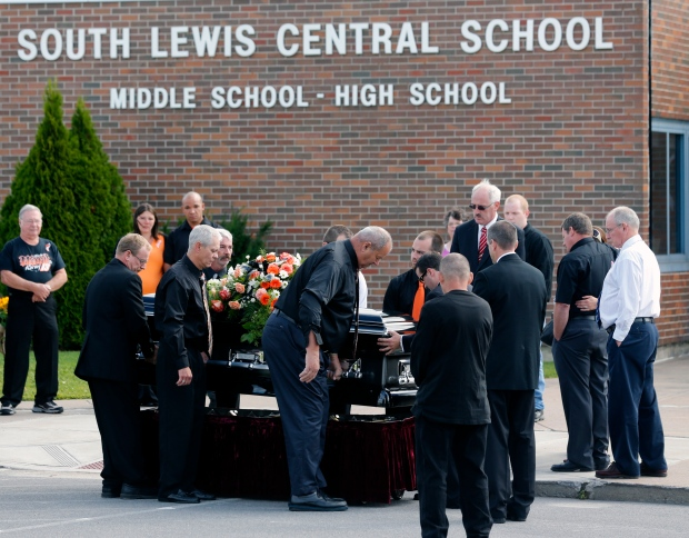 Funeral for Kevin Ward Jr., struck by Tony Stewart