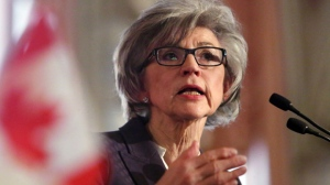 Beverly McLachlin, Chief Justice of the Supreme Court of Canada, delivers a speech in Ottawa, Tuesday, February 5, 2013. (THE CANADIAN PRESS/Fred Chartrand)