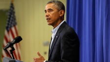 Obama comments on shooting in Ferguson, Missouri