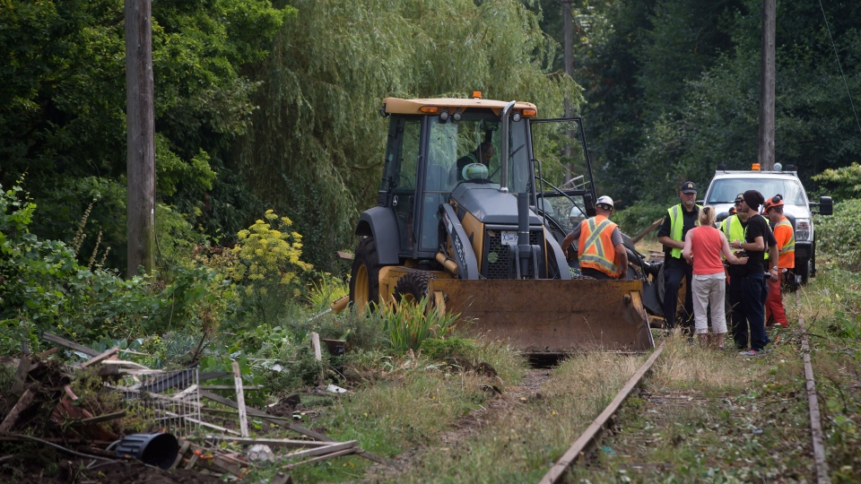 Cp Rail Starts Bulldozing Gardens In Dispute With