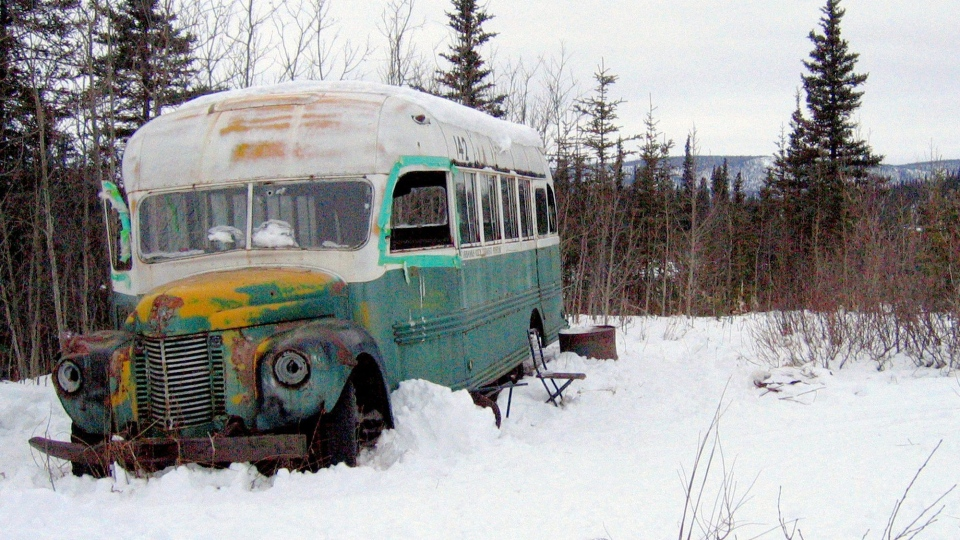 Abandoned bus from Into the Wild