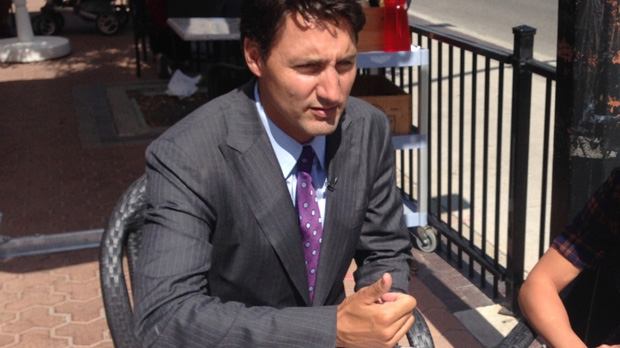 Federal Liberal Leader Justin Trudeau speaks to CTV Winnipeg on Friday, Aug. 15, 2014.
