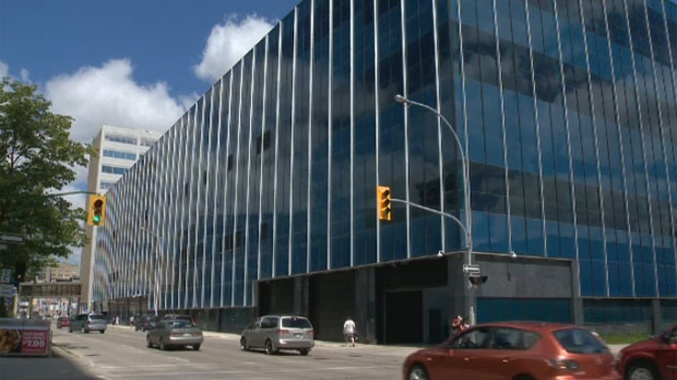 The Winnipeg police's new headquarters is shown in the city's downtown.