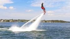 Extended: Flyboarding in Sylvan Lake, Alta.