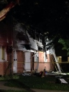 Officials are investigating explosion at Southdale townhouse complex that happened on Friday, Aug. 16, 2014 in London, Ont. (Celine Moreau/CTV London)