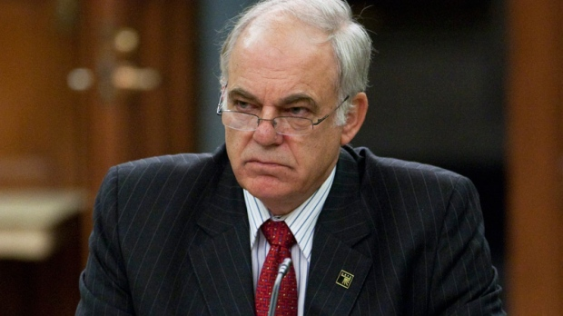 CRTC chairman Konrad von Finckenstein waits to appear before the Commons ethics committee on Parliament Hill in Ottawa, Tuesday October 18, 2011 hearing witnesses on the access to information dispute and the resulting court actions concerning the CBC.