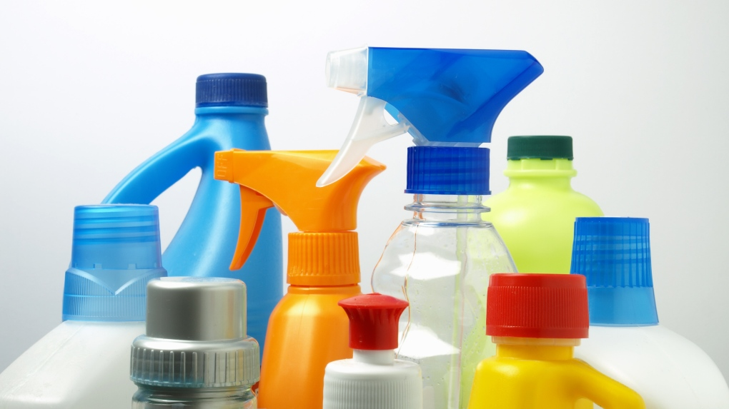 Cleaning product bottles