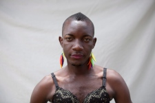 Transgender Ugandan at Pride