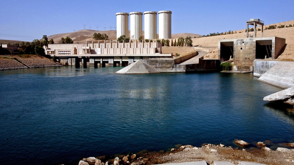This Oct. 31, 2007 file photo, shows a general view of the dam in Mosul, northwest of Baghdad, Iraq.  (AP / Khalid Mohammed, File)