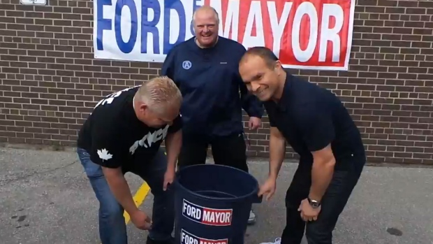 Rob Ford does Ice Bucket Challenge
