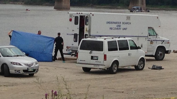 Recovery teams pulled the teen's body from the Red River, near the Alexander Docks, on Sunday, Aug. 17, 2014.