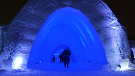 Snow Village Canada opened its gates this week in Montreal's Parc Jean-Drapeau, featuring 30 rooms, an ice bar, a snow labyrinth, snow sculptures, a restaurant and a chapel.