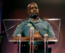 Captain Ron Johnson at Michael Brown rally