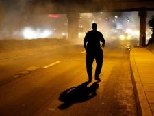 Man in Ferguson