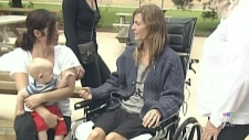 Woman injured in tornado shares story