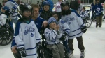 Toronto Maple Leafs fans skated with their hockey heroes Sunday as they raised money Easter Seals. CTV�s Ashley Rowe reports.
