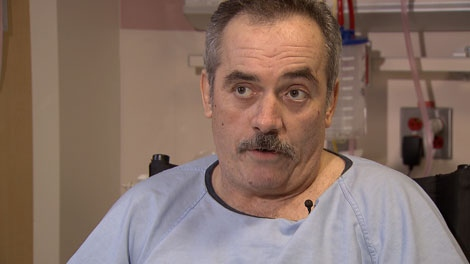 Martin Butoff, a tow truck driver who lost his leg after being hit by a car, wants people to be more careful while driving. Jan. 22, 2012. (CTV)