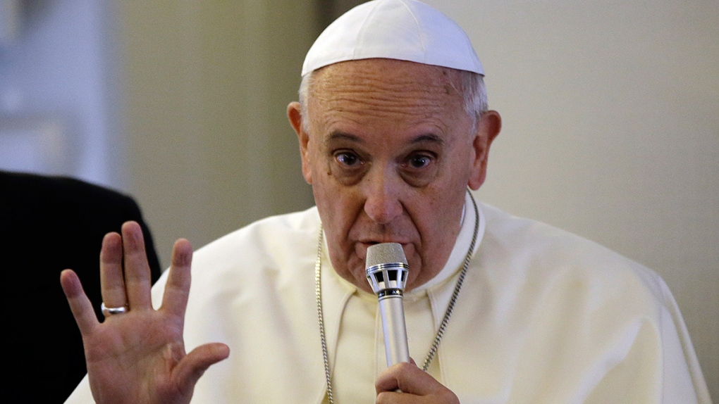 Pope Francis speaks about protecting Iraqis