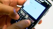 A BlackBerry smartphone.
