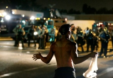 Police and protesters collide in Ferguson