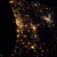 Israel and Gaza from space