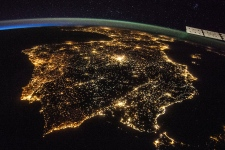 The Iberian Peninsula from space at night
