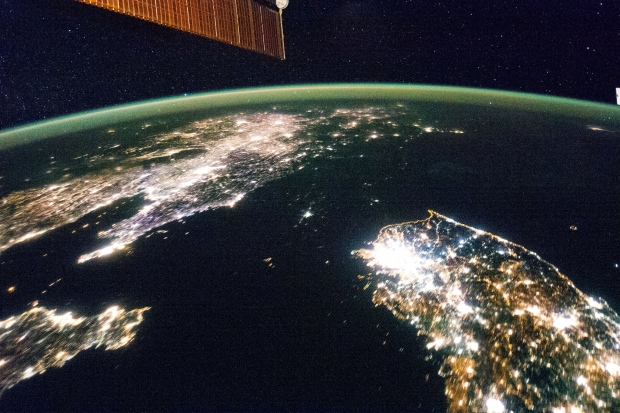 North and South Korea at night from space