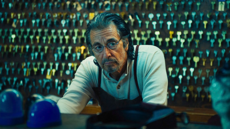 Al Pacino posesas A.J. Manglehorn in a scene from the film 'David Manglehorn,' directed by David Gordon Green. (TIFF)