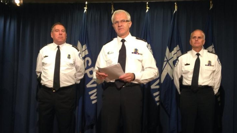 Montreal Police Chief Marc Parent said he was disappointed by police inaction during Monday's protest at Montreal city hall (CTV Montreal/Max Harrold)
