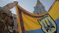 Ukrainian troops fighting rebels in Donetsk