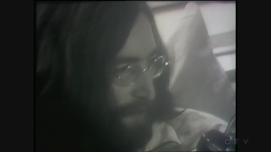 John Lennon at the bed-in at the Queen Elizabeth Hotel in 1969