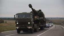 Russian artillery on the Russia-Ukrainian border