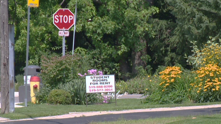 'For sale' and 'for rent' signs are seen in the Doon South neighbourhood of Kitchener on Tuesday, Aug. 19, 2014.