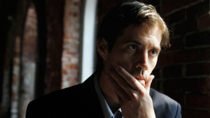 Journalist James Foley responds to questions during an interview with The Associated Press, in Boston Friday, May 27, 2011. (AP / Steven Senne)