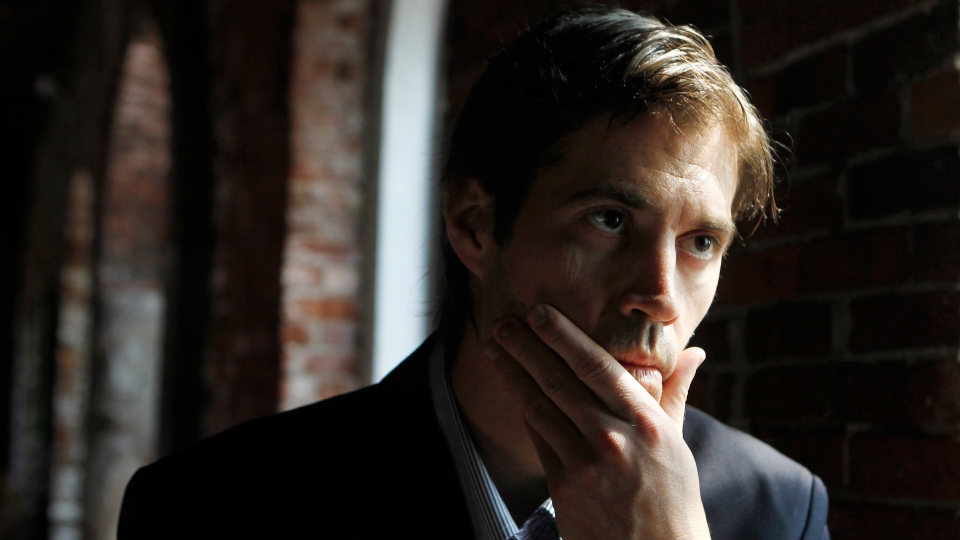 Journalist James Foley responds to questions during an interview with The Associated Press in Boston, Friday, May 27, 2011. (AP / Steven Senne)