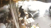 Caught on cam: Cars crash into restaurant