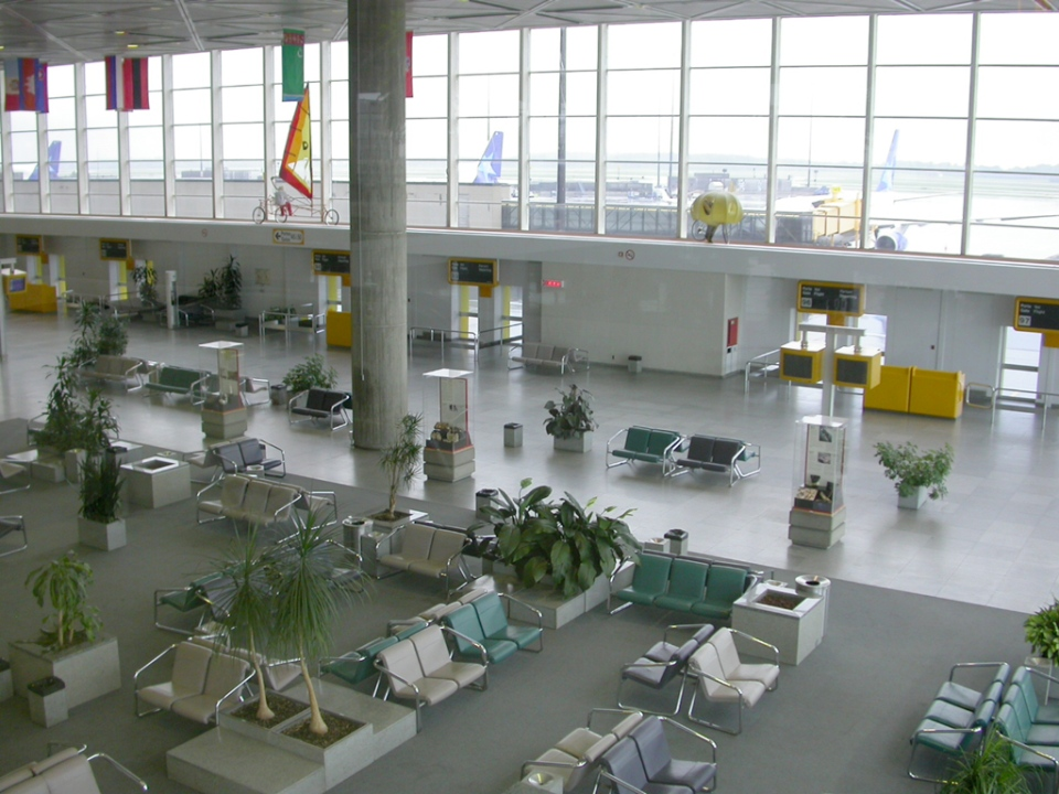 An empty terminal at Montreal's Mirabel International Airport is shown in this file photo from December 18, 2007. (Flickr / Jean-Pierre Bonin)