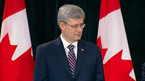 Prime Minister Stephen Harper attends a meeting with Aboriginal leaders in Ottawa, Tuesday, Jan. 24, 2012.