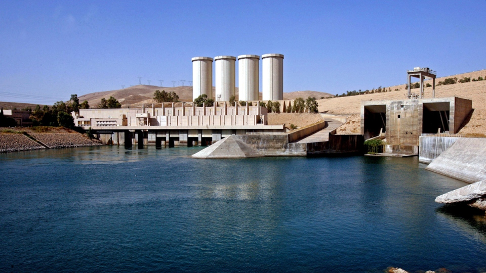 Oct. 31, 2007 photo of the Mosul Dam complex in Iraq. (AP Photo / Khalid Mohammed)