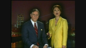 Bill Haugland and Mutsumi Takahashi on Jan. 20, 2001