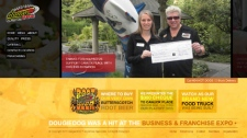 The DougieDog Hot Dogs website is shown on Jan. 24, 2012. (DougieDog.com)