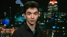 Cellist Stephane Tetreault appears on Canada AM, Tuesday, Jan. 24, 2012.