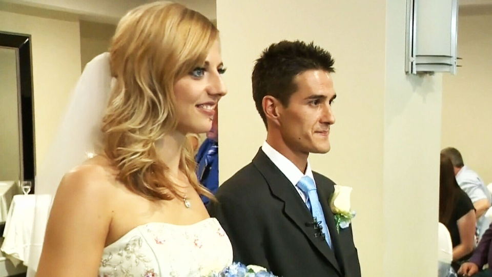 Megan Wolfe and Josh Melnyk exchanged vows in an intimate ceremony in Edmonton on Wednesday, Aug. 20, 2014.