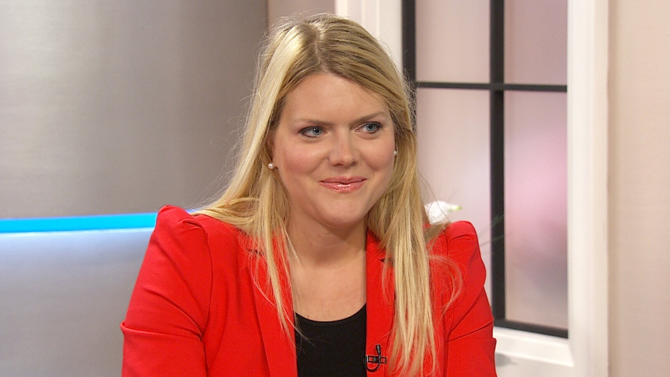 Lindsay Mattick, the great granddaughter of Harry Colebourne appears on Canada AM, Thursday, Aug. 21, 2014.